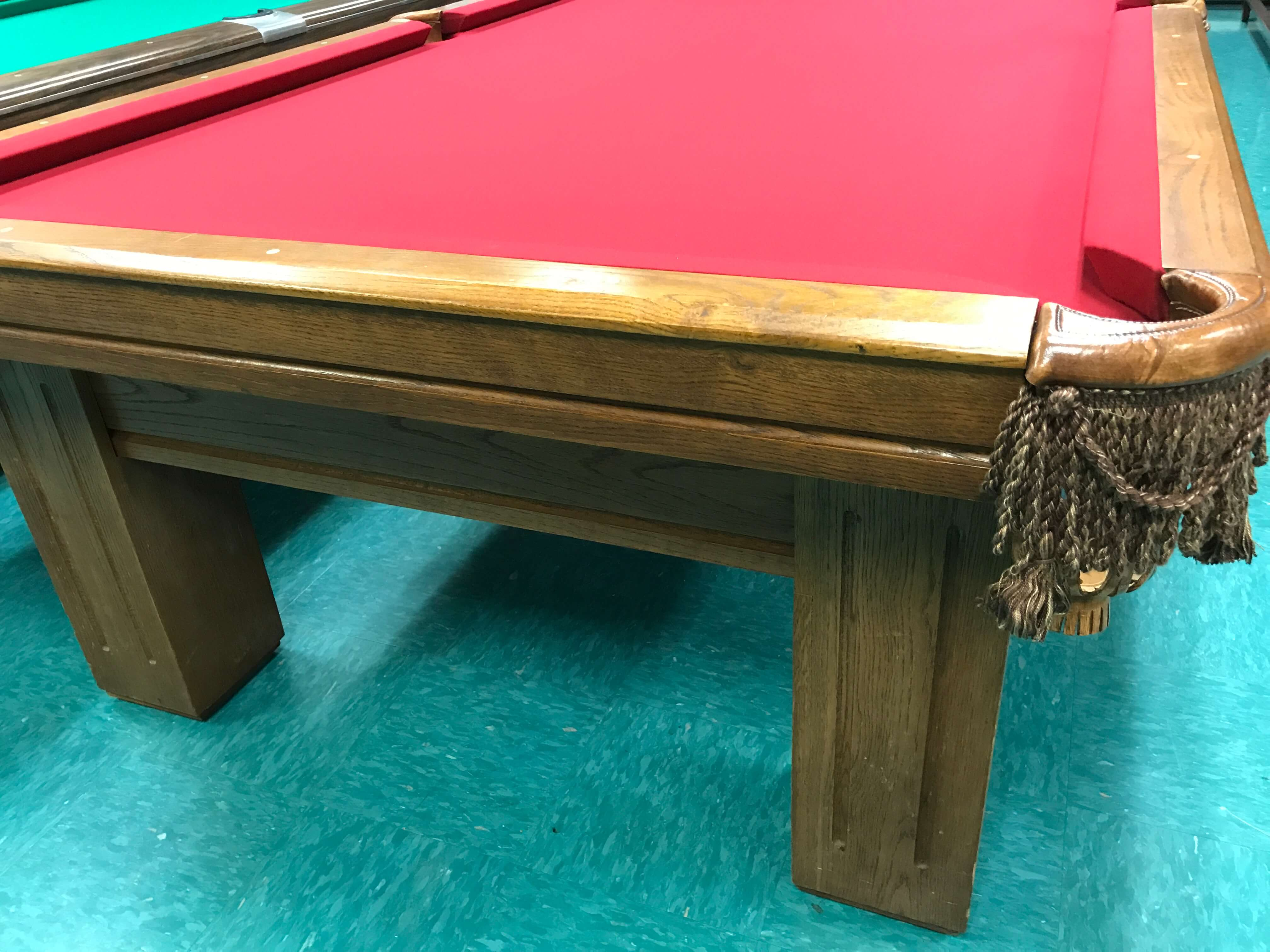 Used pool tables nc pre owned billiards tables nc for Oak beauty pool table