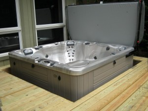 spa installation in floor