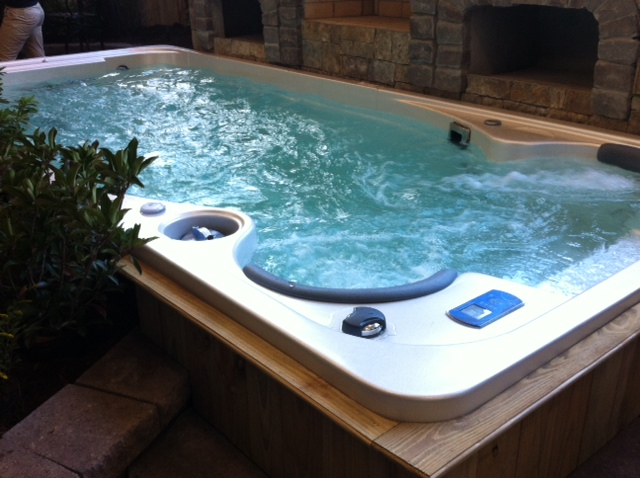 Home Swim Spa : Atlantic spas billiards at the southern ideal home show