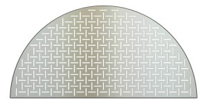 laser cut, stainless grate