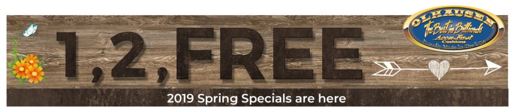Olhausen Pool Table 2019 Spring Special