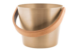 Rento Bucket with Curved Handle Champagne