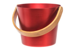 Rento Sauna Bucket with Curved Handle Firey Red